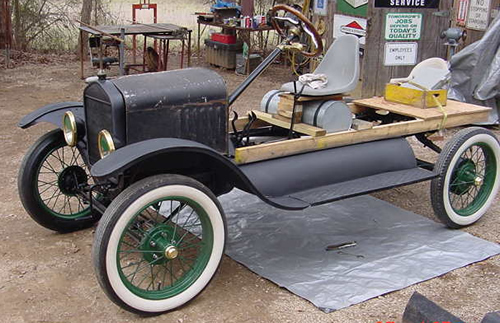 Mack Cole's Model T in progress.